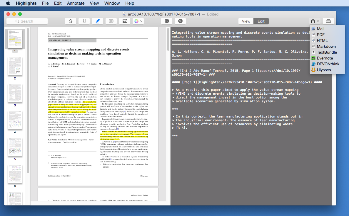 Highlights Adds Highlighted Text To Notes